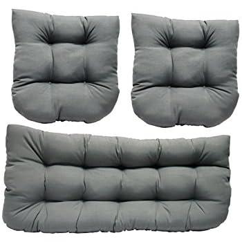 3 Piece Wicker Cushion Set   Indoor / Outdoor Wicker Loveseat Settee U0026 2  Matching Chair Part 72