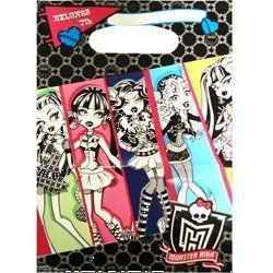 (Monster High Loot Bags (8) Birthday Favor Treat Goodie Party Supplies Girl)