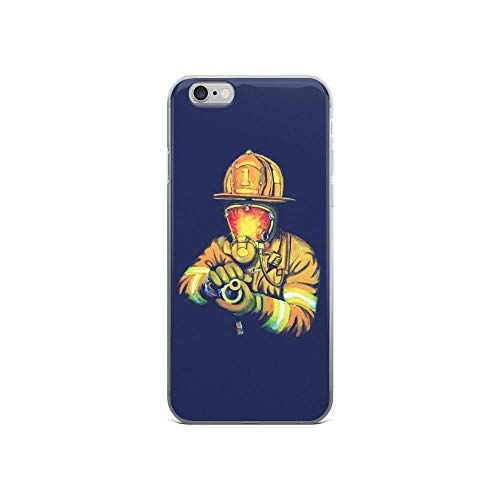 iPhone 6/6s Pure Clear Case Cases Cover Fireman Firefighter Paintings Art -