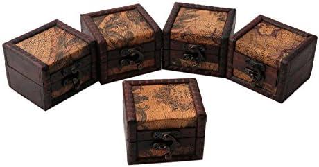 Caja de almacenamiento de madera vintage para joyas, gemelos ...