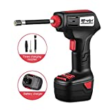 MinGz Pro Air Compressor, Cordless Portable Compressor Electric Inflator Portable Hand Held Pump with Digital LCD