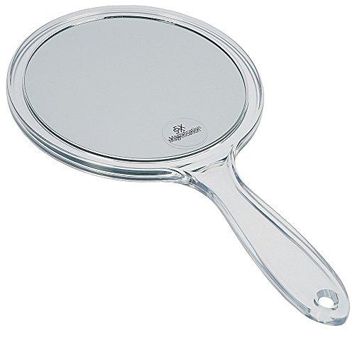 Kosmetex Handspiegel mit 5-fach Vergrößerung, Acryl, 2 Spiegelflächen, Kosmetik-Spiegel, 5-fach