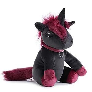 corimori Ruby el Unicornio Punk Animal de Peluche Juguete para Bebés y Niños, 34cm, Negro, Rosa (1849)