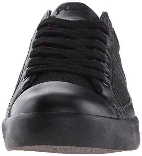 Polo Ralph Lauren Mens Churston Pique Nylon Mode Sneaker Svart