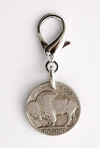 - Buffalo Nickel Bag Clip Keychain, U.S. Coin Key Ring Purse Charm