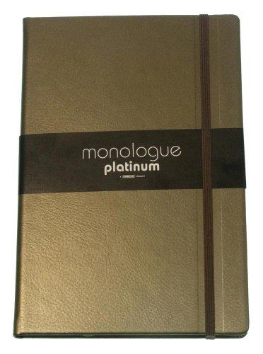Grandluxe Bronze Platinum Monologue Ruled Notebook, Medium, 3.5 x 5.5 Inches