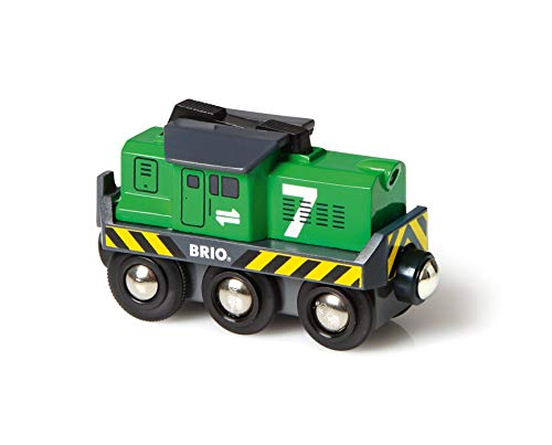 BRIO 33214 Freight Battery Engine | Toy Train for Kids Age 3 and Up