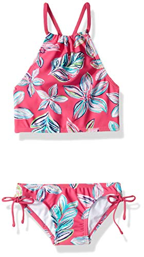 - Kanu Surf Toddler Girls' Daisy Beach Sport Halter Tankini 2-Piece Swimsuit, Charlotte Floral Pink, 4T