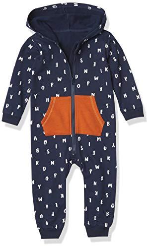Petit Lem Boys' Baby L/S Hooded Playsuit Knit, 604 Navy, 3M