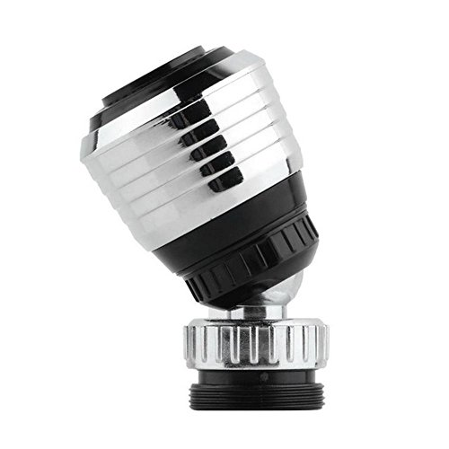 [Pawaca 360 Degree Rotating Tap Bubbler Filter Net Aerator Connector Nozzle Diffuser Swivel Faucet for Water Saving Kitchen Accessories] (Fauc Adapter)