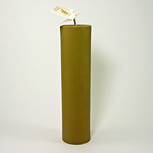 Hand-poured Real Bayberry Wax Traditional Pillar Candle (2 Inch Dia. X 8 Inch High)