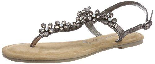 Back pewter 28144 Silver Women's Tamaris Sling 915 Sandals qpB8z