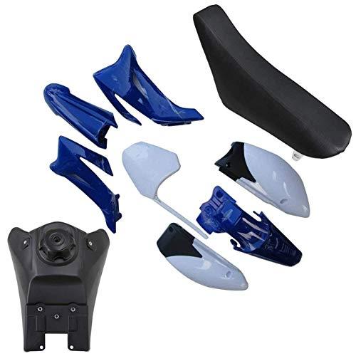 Blue&White Plastic Fender Body Kit Seat Fuel Tank Set For Yamaha TTR110 TTR110E Dirt Bike