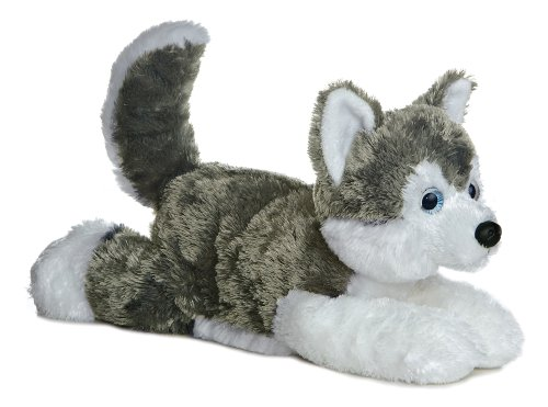 Aurora World Flopsie Plush Siberian Husky Dog Shadow, 12''