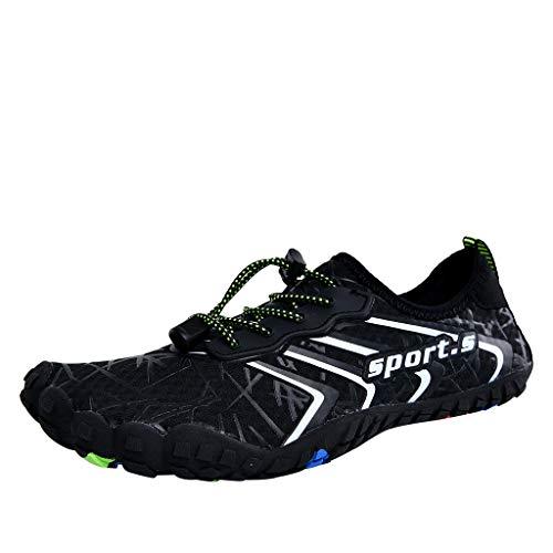 (Sunskyi Upstream Shoes,Men Women Quick-Drying Breathable Non-Slip Five-Finger Shoes Summer Beach Swim Drawstring Diving Shoes)