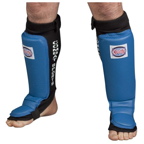 Combat Sports MMA Muay Thai Kickboxing Protective Training Instep Sparring Shin Guards
