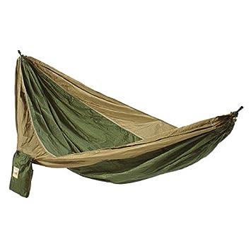 hammaka parachute nylon portable double hammock army green   brown amazon     hammaka parachute nylon portable double hammock army      rh   amazon