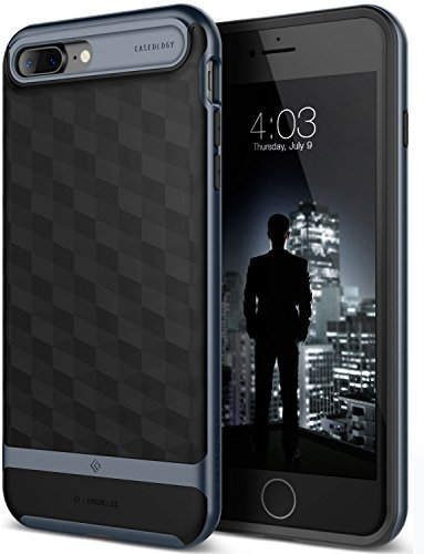 Caseology Parallax Series iPhone 7 Plus / 8 Plus Cover Case with Design Slim Protective for Apple iPhone 7 Plus (2016) / iPhone 8 Plus (2017) - Black / Deep - Find Warehouse Designer