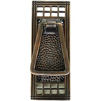 Hammered Mission Arts and Crafts Front Door Knocker Bronze Finish over solid brass  sc 1 st  Amazon.com & Atlas Homewares DK644-O 5.38-Inch Mission Door Knocker Aged ... pezcame.com