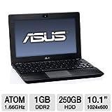 """Asus Eee 1018P-BBK804 10.1"""" PC Netbook (Intel Atom Processor, 1GB Memory, 250GB Hard Drive, Black Aluminum)"""