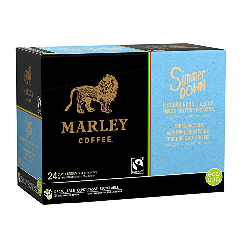 Marley Coffee Simmer Down Decaf, Single Serve Cups, 96 Count