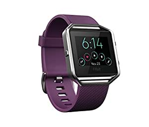 Fitbit Blaze Smart Fitness Watch, Plum, Silver, Small (US Version)