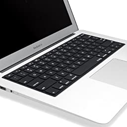 Kuzy - Solid BLACK Keyboard Cover Silicone Skin for MacBook Pro 13\