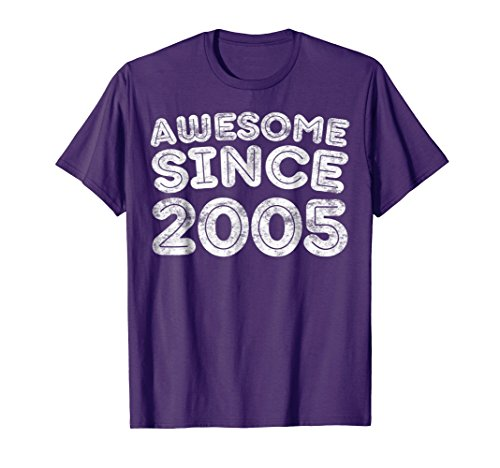 Awesome Since 2005 T-Shirt Funny 13th Birthday Gift Shirt