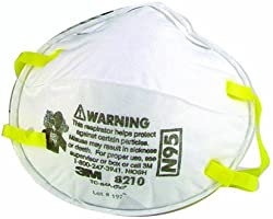 3M 8210 High Efficiency Dust Mask, 20-Pack