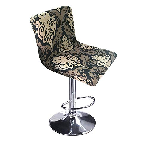 MOCAA Stretch Slipcover Chair Protectors for Short Back Chair Bar Stool Chair,ONLY Chair Covers (Color 1)