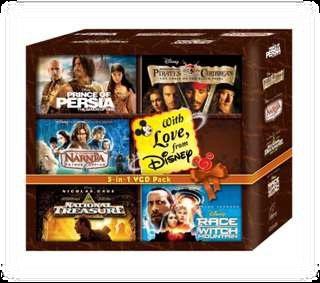 RACE TO WITCH MOUNTAIN, NATIONAL TREASURE, PIRATES OF THE CARIBBEAN I, PRINCE OF PERSIA (DVD) ENGLISH AND HINDI, NARNIA I