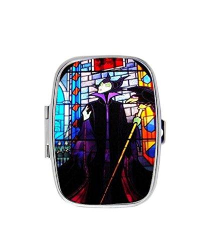 Disney's Sleeping Beauty Maleficent Image Custom Stainless Steel Pill Case Box Holder - Maleficent Diy