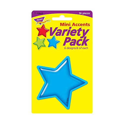 Trend Enterprises Gumdrop Stars Mini Accents Variety Pack, 36 per Package (T-10843) Photo #2