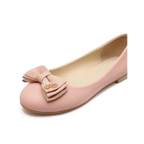 ZQ YYZ Zapatos de mujer - Tac¨®n Bajo - Puntiagudos / Punta Cerrada - Planos - Oficina y Trabajo / Vestido / Casual / Fiesta y Noche - Semicuero - , black-us8.5 / eu39 / uk6.5 / cn40 , black-us8.5 / e