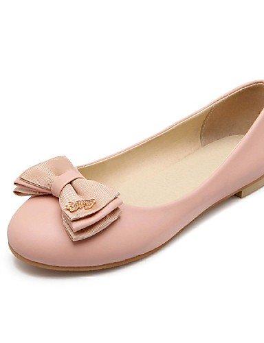 Flats eu39 uk6 casual de carrera PDX piel de rosa plano Beige pink Ballerina us8 oficina zapatos vestido sintética talón y cn39 mujer azul 1wzw4Rnq