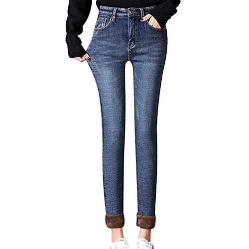 En Haute FemmesD'hiver Style02 Et Épais Taille Bozevon Jeans Pantalons Velours Pour Dames HWED9IY2