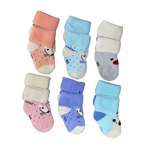 Freshfoot Organic Cotton Socks For New Born Baby (0-12 Months) 6 Pairs