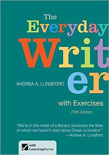 Amazon.com: The Everyday Writer with Exercises (9781457612671 ...