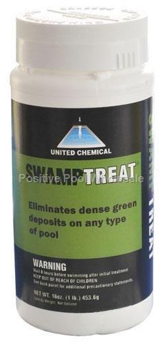 (United Chemicals SWAM-C12 Swamp Treat Pool Algae Eliminator, 1-Pound, Model: SWAM-C12 , Home & Outdoor Store)