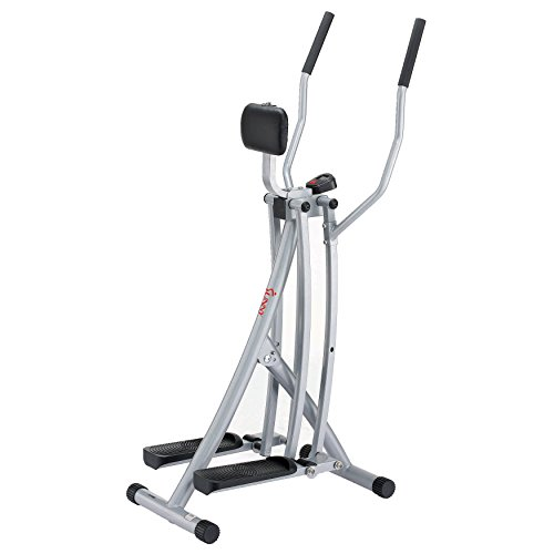 Sunny Health & Fitness SF-E902 Air Walk Trainer Elliptical Machine Glider w/ LCD Monitor