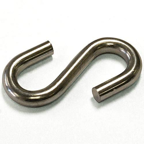 Ochoos Wholesale by 500PCS/15KGS/Carton 6X55MM Metal zinc Plated Galvanized Carbon Steel S Hooks as S Shaped Hanger Hook for Hanging