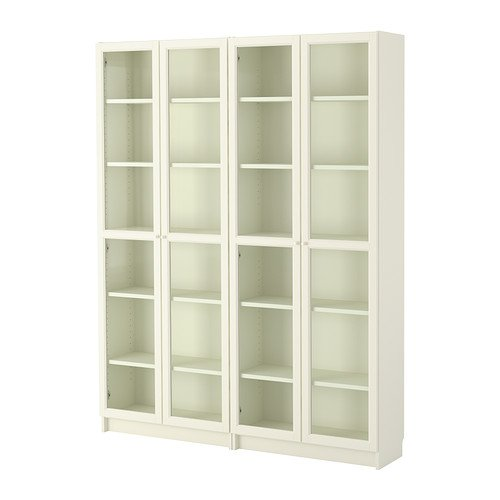 IKEA本棚、ホワイト、ガラス18202.52326.1410 B01HW4DEXG