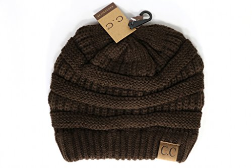 Crane Clothing Co  Womens Classic Cc Beanies One Size Brown