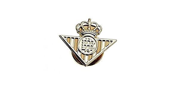 Pin escudo Real Betis oro de ley 18k liso [AA0657] - Modelo: 50 ...