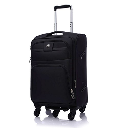 スーツケース スーツケース20/24/28インチラウンドオックスフォード布スーツケースハイグレードビジネススーツケース、旅行や搭乗用 トロリースーツケース B07VKQD213