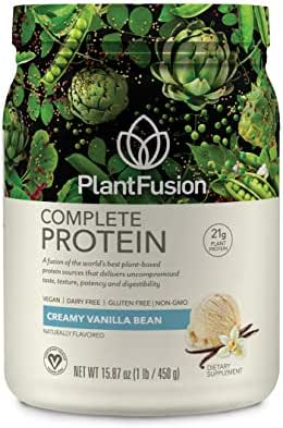 PlantFusion Complete Plant-Based Protein Powder, Gluten Free, Vegan, Non-GMO, Packing May Vary, Vanilla, 1 Pound