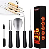 HOT SELL! Professional Pumpkin Carving Kits 8 Packs Premium Stainless Steel Pumpkin Carving Tools For Halloweens Lanterns Pumpkin Party Decorations