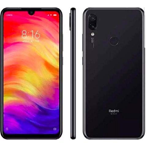 Xiaomi Redmi Note 7 128GB + 4GB RAM 6.3 FHD+ LTE Factory Unlocked 48MP GSM Smartphone (Global Version, No Warranty) (Space Black)