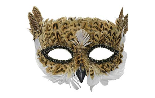 (Brown Owl Feather Mask)