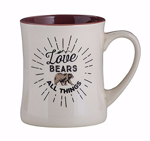 Creative Brands Papel Creature Comforts Ceramic Coffee Mug, Love Bears All Things by CB Gift